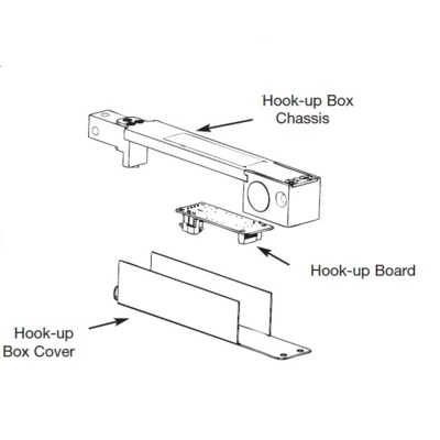 Rixson 20-0099-0604-689 Special Order Hook-Up Box Assembly for Checkmate 99-726 - Special Orders