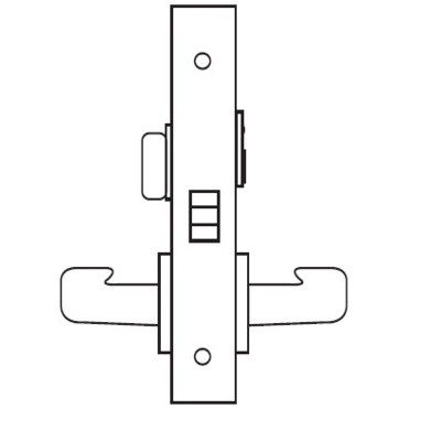 Sargent 8265 Privacy Bedroom or Bath Mortise Lock Body - Mortise Lock Bodies
