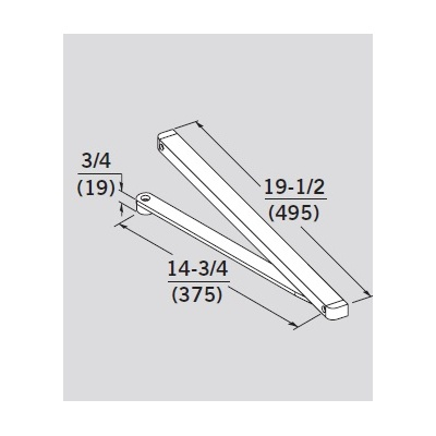 Dorma MOD-T-689 Special Order Pull Side Track Arm for 8616T - Special Orders