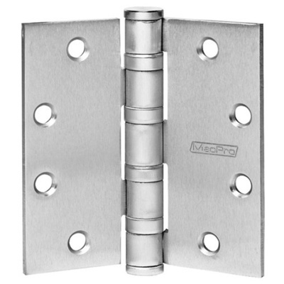 Qualified MCMPB79-26D Box of 4-1/2 x 4-1/2 Standard Weight Ball Bearing Hinges - Pivots, Pivot Sets and Patch Fittings