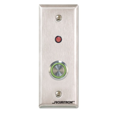 Securitron PB4LN-2 Momentary Narrow Push Button - Securitron