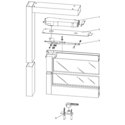 Dorma RTS88-Kit 01 Center Hung Side Load, Aluminum Door and Frame Overhead Complete Closer - Complete Overhead Closers