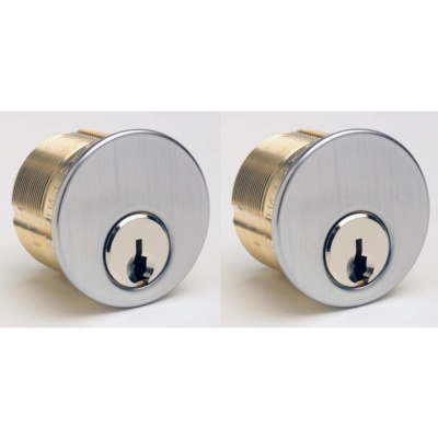 Qualified QH118-Pair 1-1/8 Mortise Cylinder Pair - Mortise Cylinders