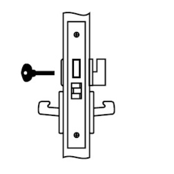 Privacy Mortise Lock Body