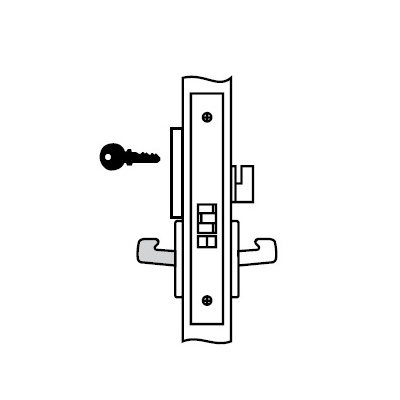 Yale 8864FL-JNR6-630 Special Order Privacy Function Complete Mortise Lock with Occupancy indicator and Lever and Rose - Special Orders image 2
