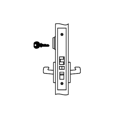 Yale 8807FL-JNR6-630 Special Order Entrance Function Complete Mortise Lock with Lever and Rose - Special Orders image 2