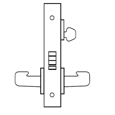 Special Order Classroom Function Complete Mortise Lock with J Lever and LN Rose