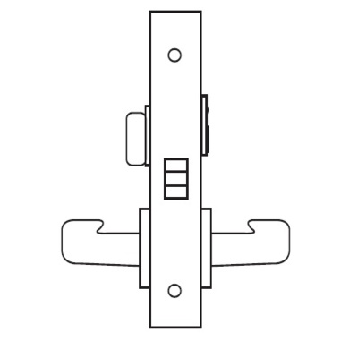 Sargent 8265LN Privacy Function Complete Mortise Lock with Lever and Rose. - Complete Mortise Locks image 2