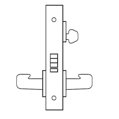 Electromechanical Fail Safe Mortise Lock with Lever and Decorative Plate