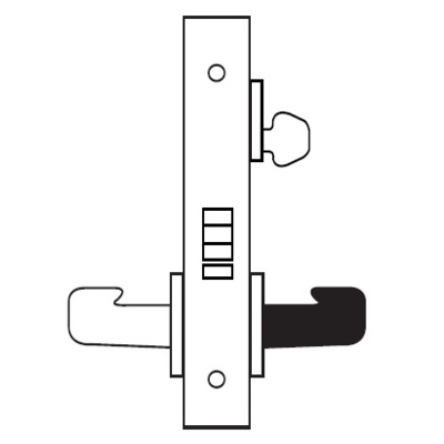 Sargent 8205-LNND-10BE Special Order Office or Entry Function Complete Mortise Lock with ND Lever and LN Rose - Special Orders image 2