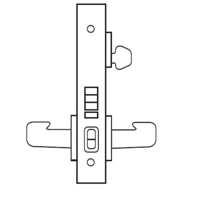 Sargent 8255LW1 Office or Entry Function Complete Mortise Lock with Lever and Decorative Plate - Complete Mortise Locks image 2