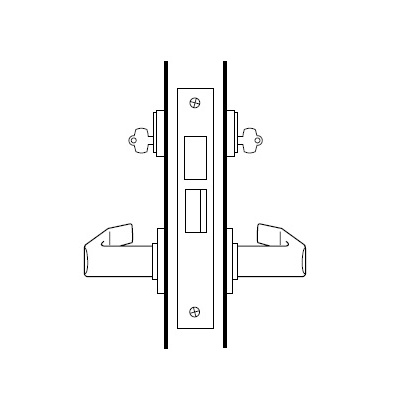 Best Access Systems 45H7G4S-626 Special Order Communicating Function Complete Mortise Lock with Knob and Rose - Special Orders image 2
