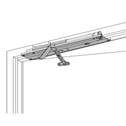 Heavy Duty Concealed Overhead Door Closer for Aluminum Doors