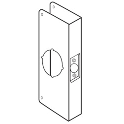 Classic Cylindrical Lock Wrap Around Plate for 1-3/4 Thick Door