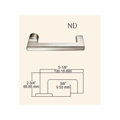Sargent 8205-LNND-10BE Special Order Office or Entry Function Complete Mortise Lock with ND Lever and LN Rose - Special Orders