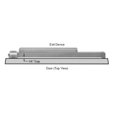 Precision Hardware 2101 Exit Only Apex Rim Exit Device - Precision Apex 2100 Series Rim Exit Devices image 2