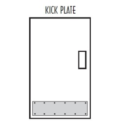 Don-Jo 90-10X34-32D Kick Plate 10x34 - Miscellaneous Door Hardware