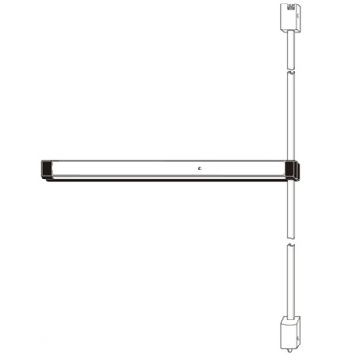 Adams Rite 8200C Special Order Narrow Stile Surface Vertical Rod Exit Device with Cylinder Dogging - Special Orders