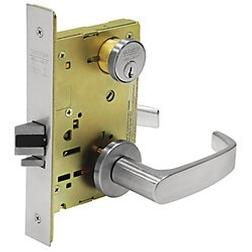 Classroom Function Complete Mortise Lock with Lever and Rose.