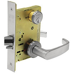 Sargent 8243LN Apartment Corridor Door Function Complete Mortise Lock With  Lever And Rose   Complete Mortise