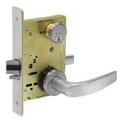 Office or Entry Function Complete Mortise Lock with Lever and Rose.