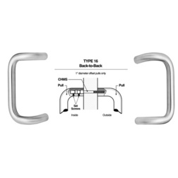 Rockwood Manufacturing BF158BTB16 BF158 Back-to-Back Offset Pull Set - Miscellaneous Door Hardware