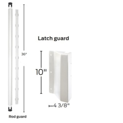 Rod and Latch Guard for Von Duprin Surface Vertical Rod Devices