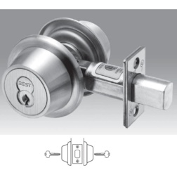Heavy Duty Interchangeable Core Double Cylinder Deadbolt 2-3/4Backset