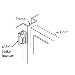 Adjustable surface strike bracket