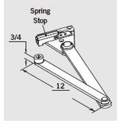 Dorma MOD-S-DS Spring Stop Door Saver Parallel Arm - Closer Arms image 4