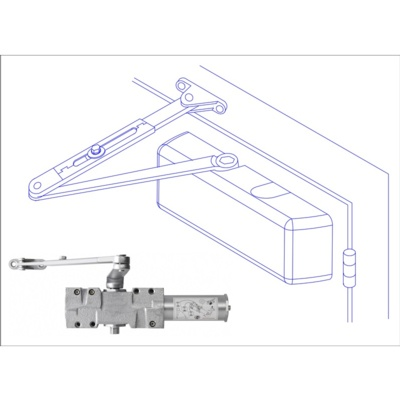 Arrow DC516-1 Heavy Duty Adjustable Power Door Closer with Hold Open - Complete Surface Closers