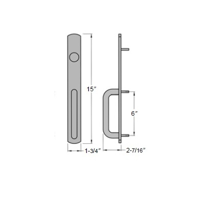 Precision Hardware 2403-2003C Narrow Stile Apex Rim Exit Device with Night LatchTrim - Precision Apex 2400 Series Narrow Stile Rim Exit Devices image 3