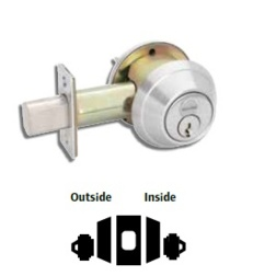 Double Cylinder Deadbolt Prepped for Interchangeable Core