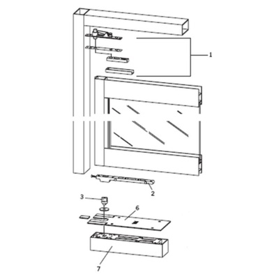 Dorma BTS80-KIT A Complete Center Hung, Double Acting, Aluminum Door and Frame Floor Closer - Complete Floor Closers