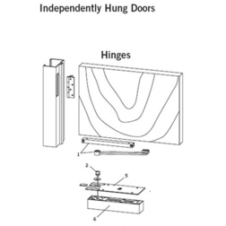 Independently Hung on Hinges-Floor Closer