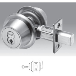Heavy Duty Interchangeable Core Classroom Deadbolt. 2-3/8Backset