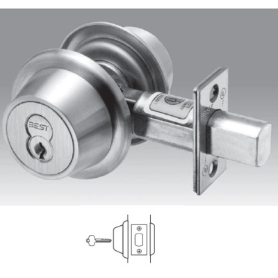 Best Access Systems 8T27LSTK Heavy Duty Interchangeable Core Single Sided Deadbolt. 2-3/8Backset - Best Deadbolts
