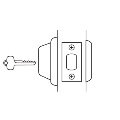 Best Access Systems 8T27LSTK Heavy Duty Interchangeable Core Single Sided Deadbolt. 2-3/8Backset - Best Deadbolts image 2