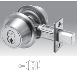 Standard Duty interchangeable Core Single Cylinder Deadbolt. 2-3/4Backset