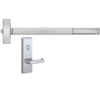 Precision Hardware FL2103-4903A Fire Rated Apex Rim Exit Device with Night Latch Lever Trim - Precision Apex 2100 Series Rim Exit Devices