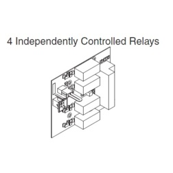 4 Relay Distribution Option Board for PS900 Power Supplies