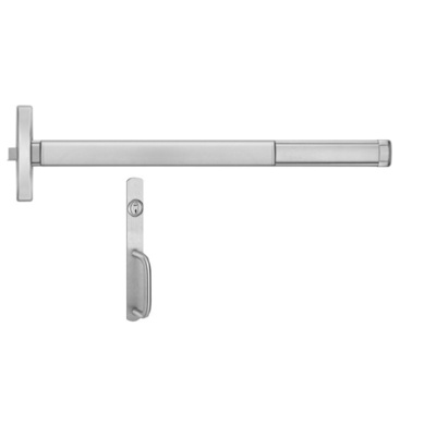 Precision Hardware 2403-2003C Narrow Stile Apex Rim Exit Device with Night LatchTrim - Precision Apex 2400 Series Narrow Stile Rim Exit Devices