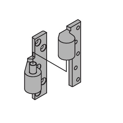 Ives 7226-INT-26D 3/4 Offset Full Mortise Intermediate Pivot - Pivots, Pivot Sets and Patch Fittings