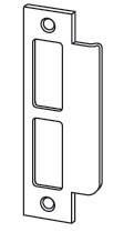 Standard strike for l9000 series satin chrome finish 10 for Schlage mortise lock template